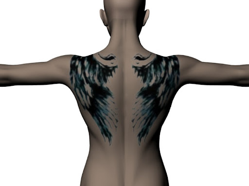Free Tattoo Designs Broken Wings Angel Tattoos Desaign