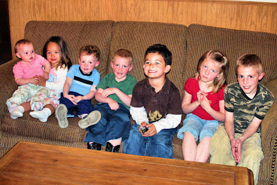 Molly, Gracie, Matthew, Andrew, CJ, Eliza, and Dallin