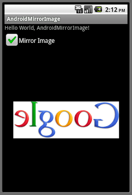 Generate a mirror image using Matrix.postConcat()