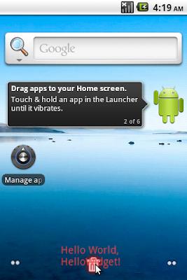 Delete a App Widget