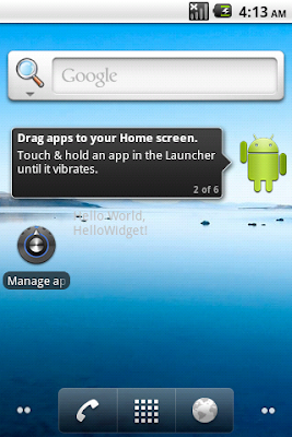 Android Home Screen App Android