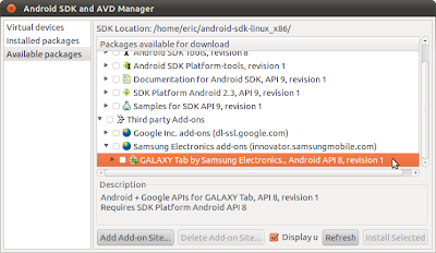 SDK and AVD Manager