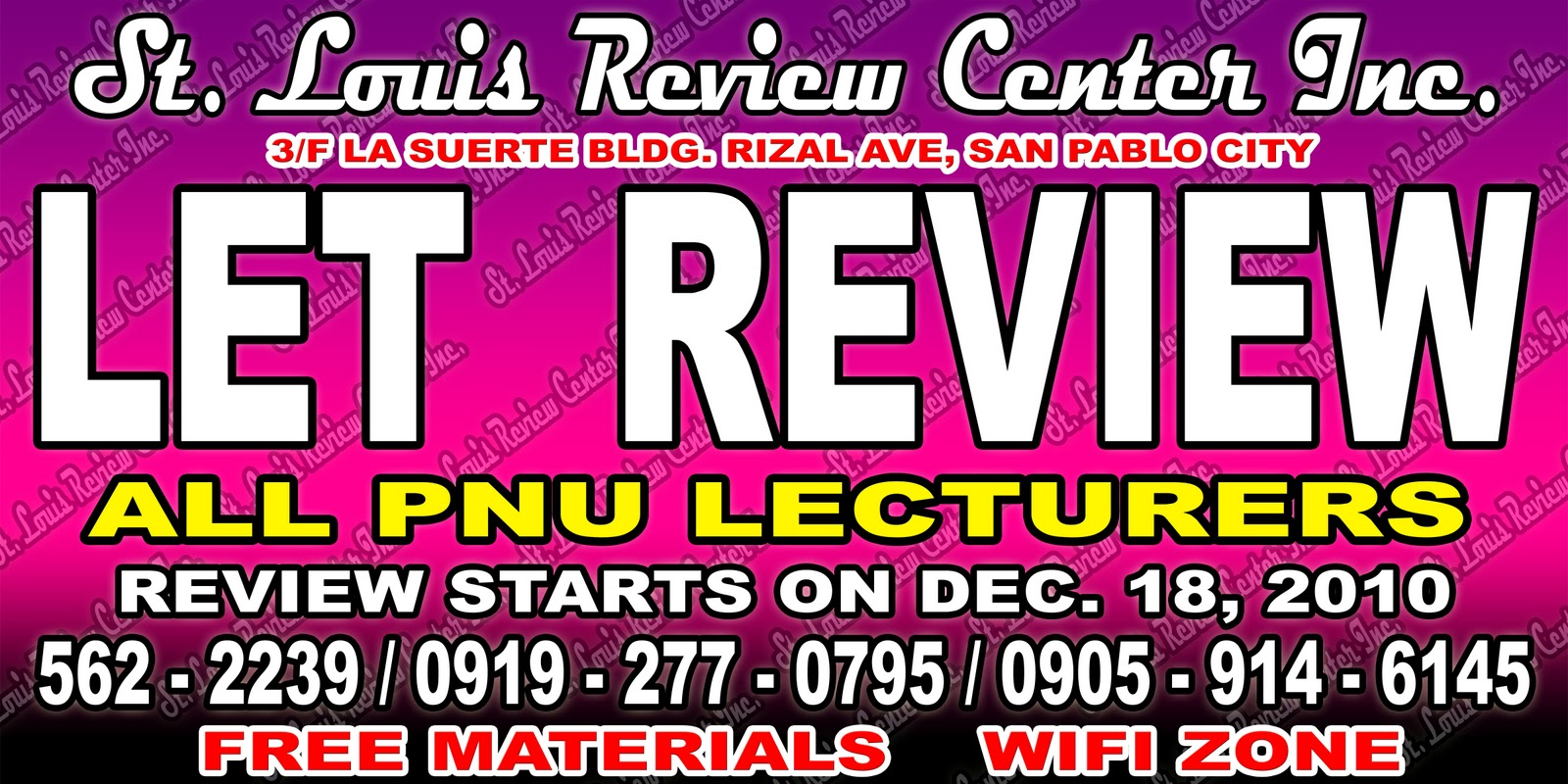Louis Review Center Inc