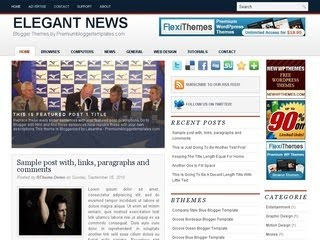 Elegant News Blogger Template