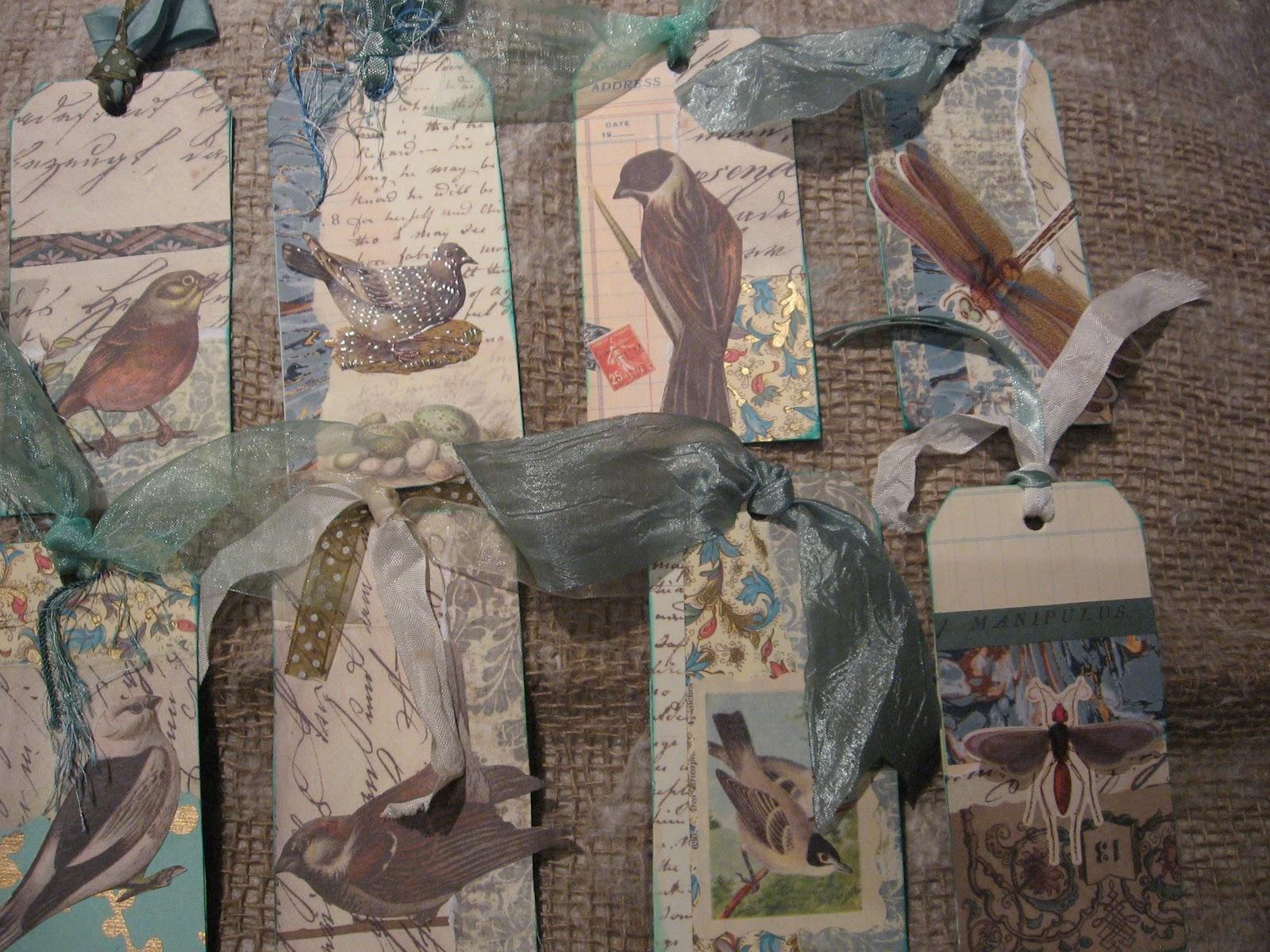 altered book studio christmas gift tags