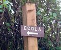 ecola park sign