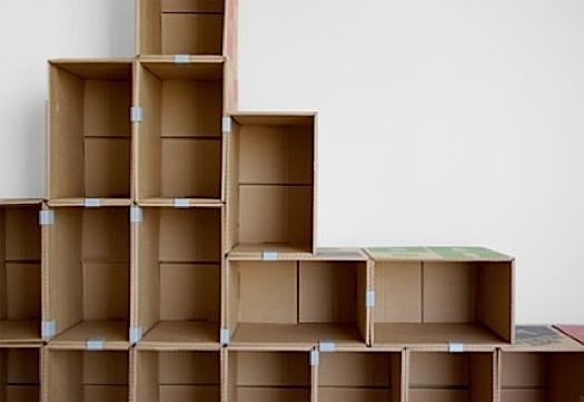 Comparte tus ecoideas estanter a de cajas de cart n - Estanteria carton ...