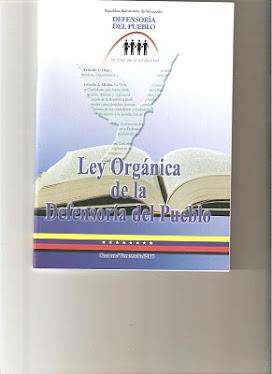 Ley  organica de la  Defensoria delPueblo
