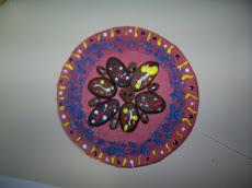Mandalas em Cds velhos feitos pelas alunas do 6º ano do Colégio Menino Jesus