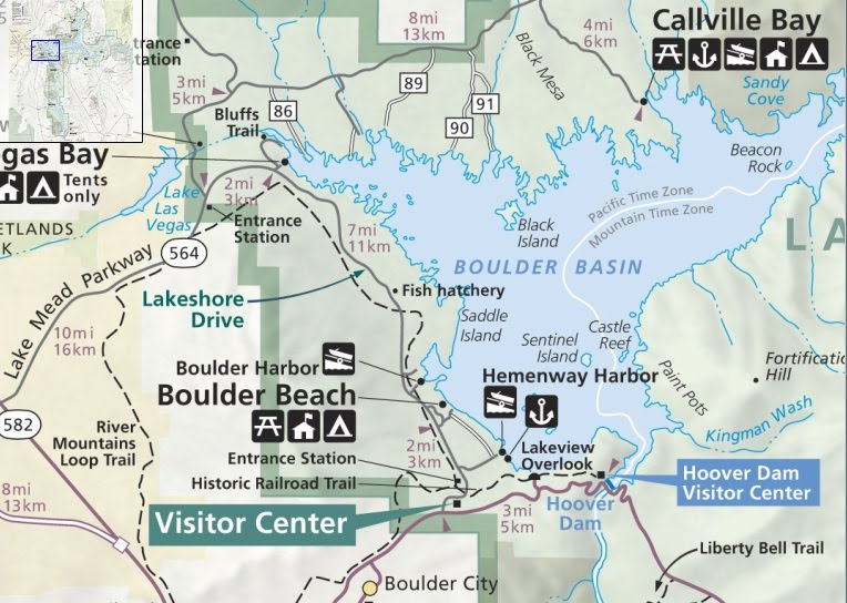 Map Lake Mead