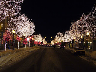 Christmas lights on Main Street, Littleton, Colorado