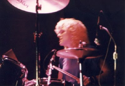 photograph of Wednesday Week drummer, Kelly Callan, 1987