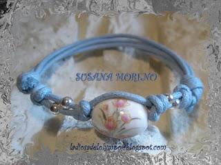 pulsera nudos azul y plata 925