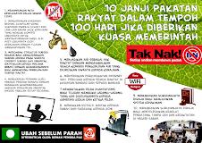 10 janji Pakatan Rakyat dalam 100 hari jika diberikan kuasa memerintah