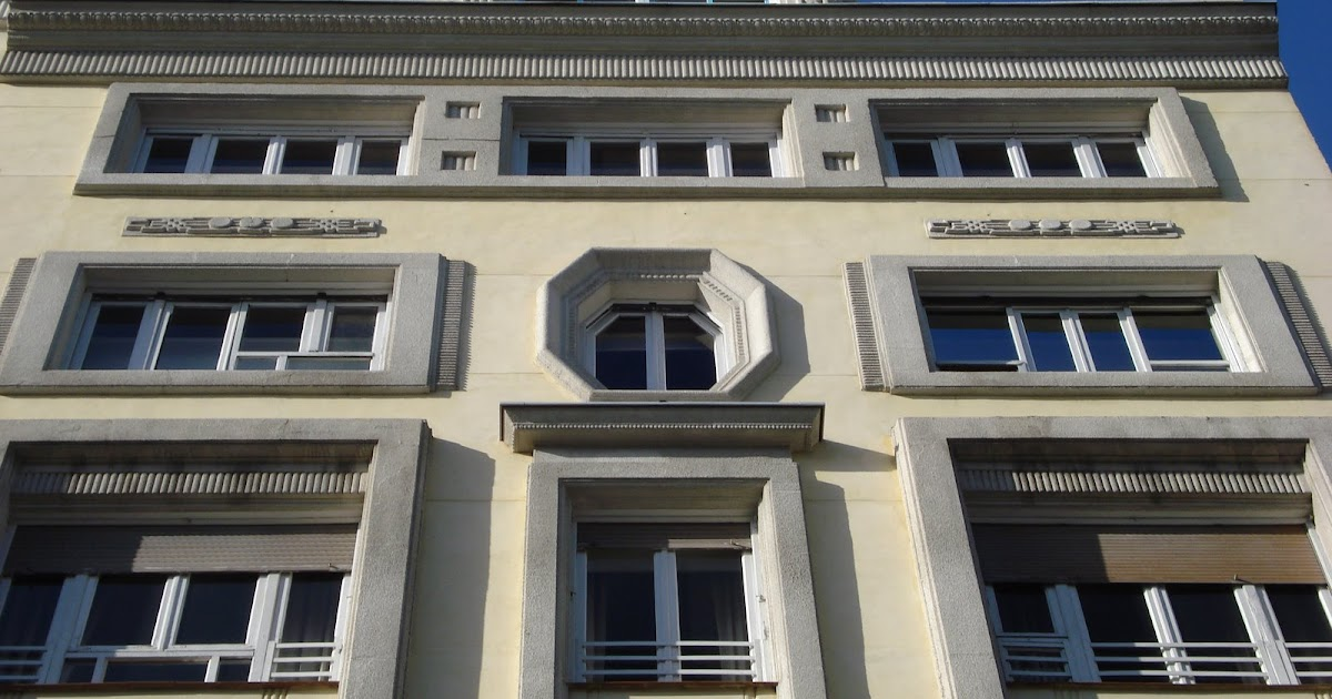 Madrid art dec plaza de las cortes 5 fachada for Arquitectura franquista