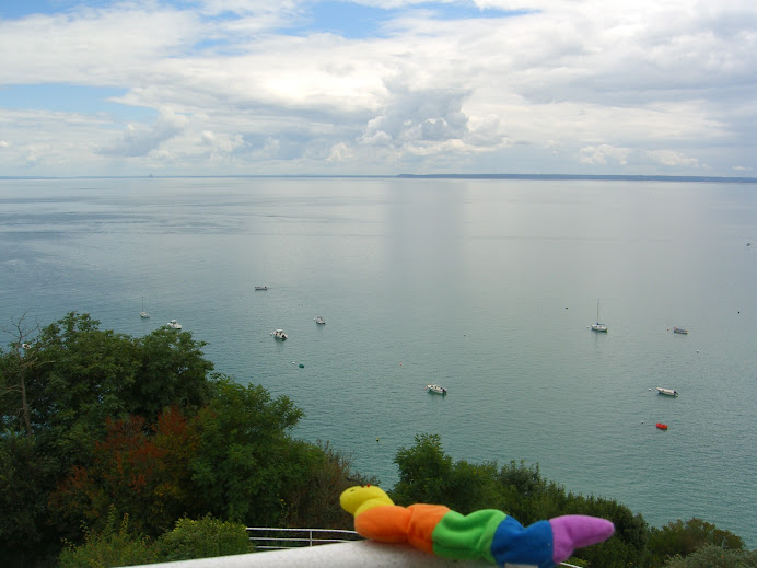 The Bay of Cancale/Mont St. Michele, from our house!