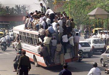 ônibus quase vago.