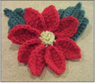 CROCHET POINSETTIA FLOWER PATTERNS Crochet Patterns Only