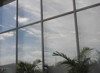 roof deck windows of Shangri-la Plaza mall