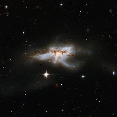 galaxies colliding in the Ophiuchus constellation