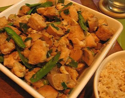 wasabi fish stir-fry