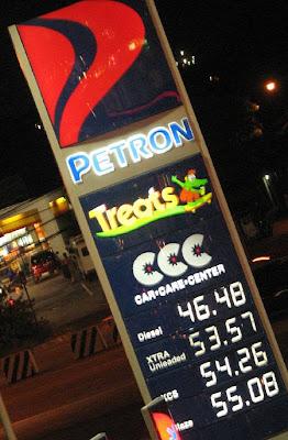 gasoline prices in Manila on June 6, 2008