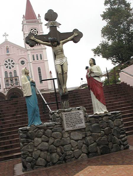 plaza of the Baguio Cathedral