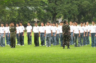 ROTC training in the Philippines