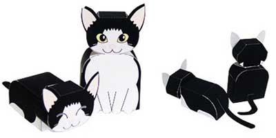 cute cat paper model