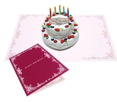 Birthday cake pop up