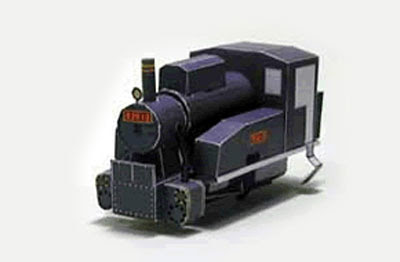 train locomotive papercraft