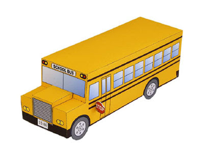 school bus papercraft