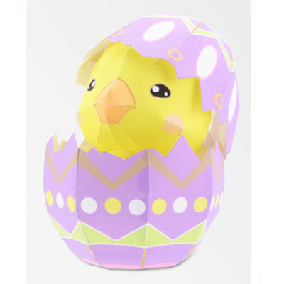 easter egg papercraft
