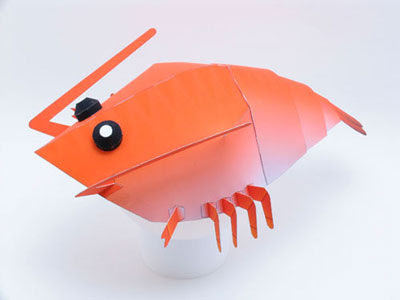 shrimp hat paper toy
