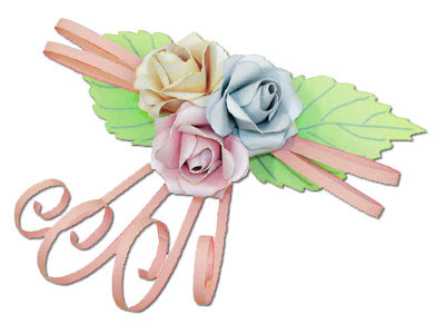 rose flower papercraft