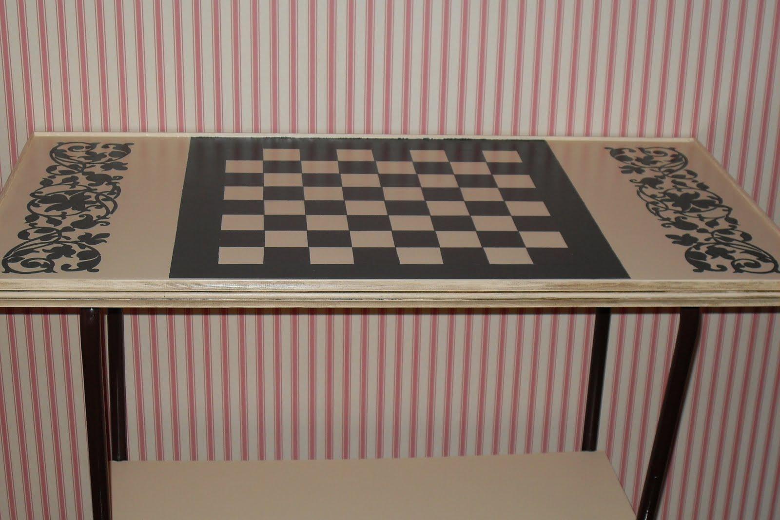 Decoraci n y tecnicas decorativas mesa tablero de ajedrez - Tecnicas decorativas ...
