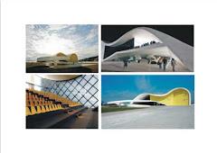 O 'Caminho Niemeyer' é formado por uma 'coleção urbana' do arquiteto-escultor, Dr. Oscar Niemeyer.