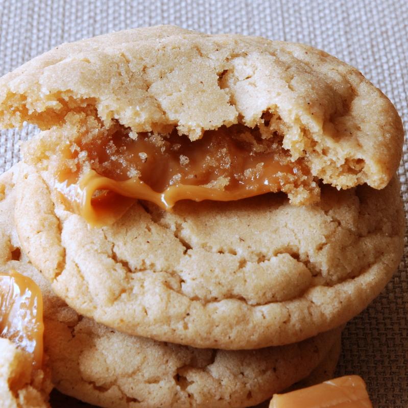 Scrambled Henfruit: Caramel Stuffed Apple Cider Cookies