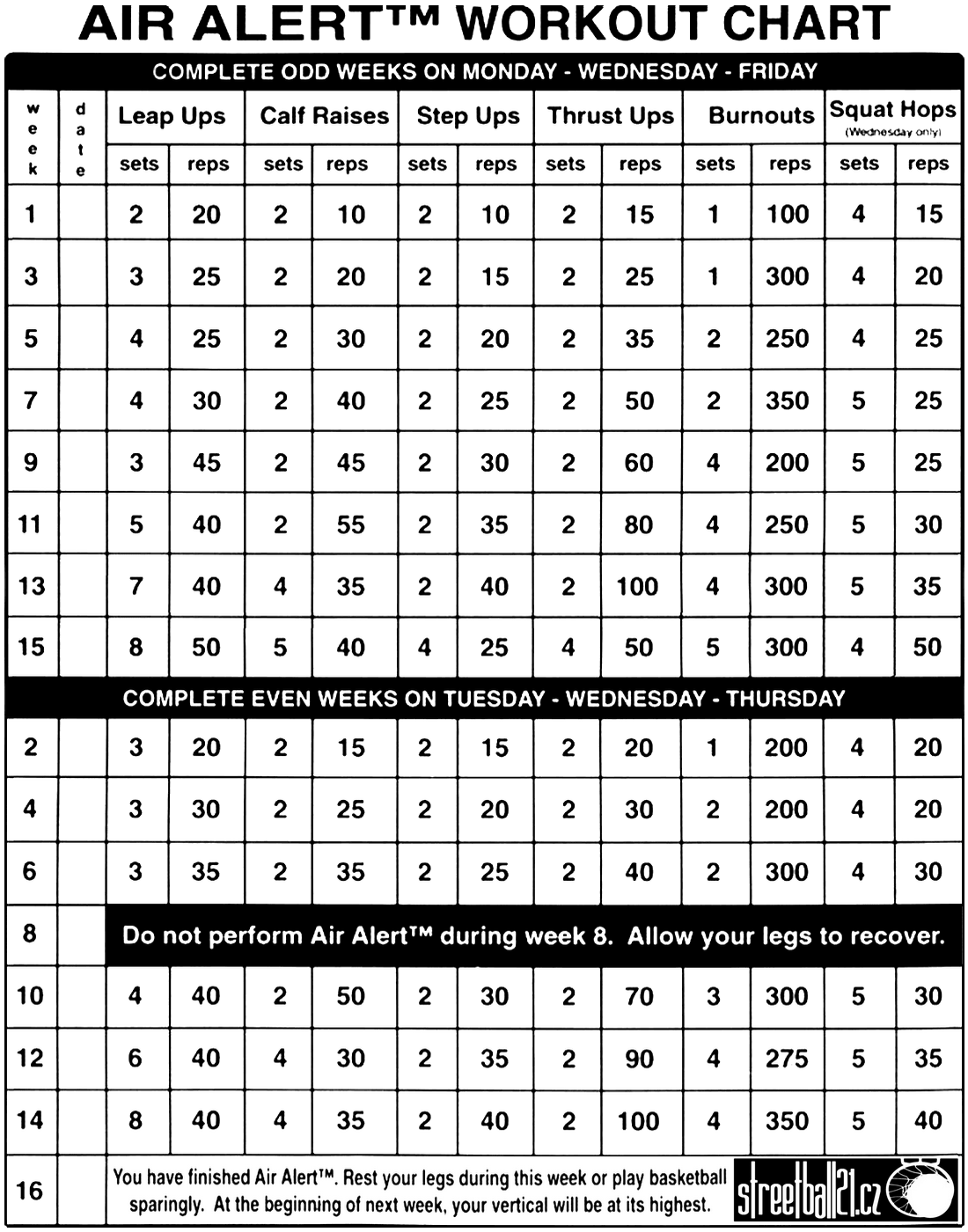 1100 x 1400 · 518 kB · png, Air Alert Workout Chart