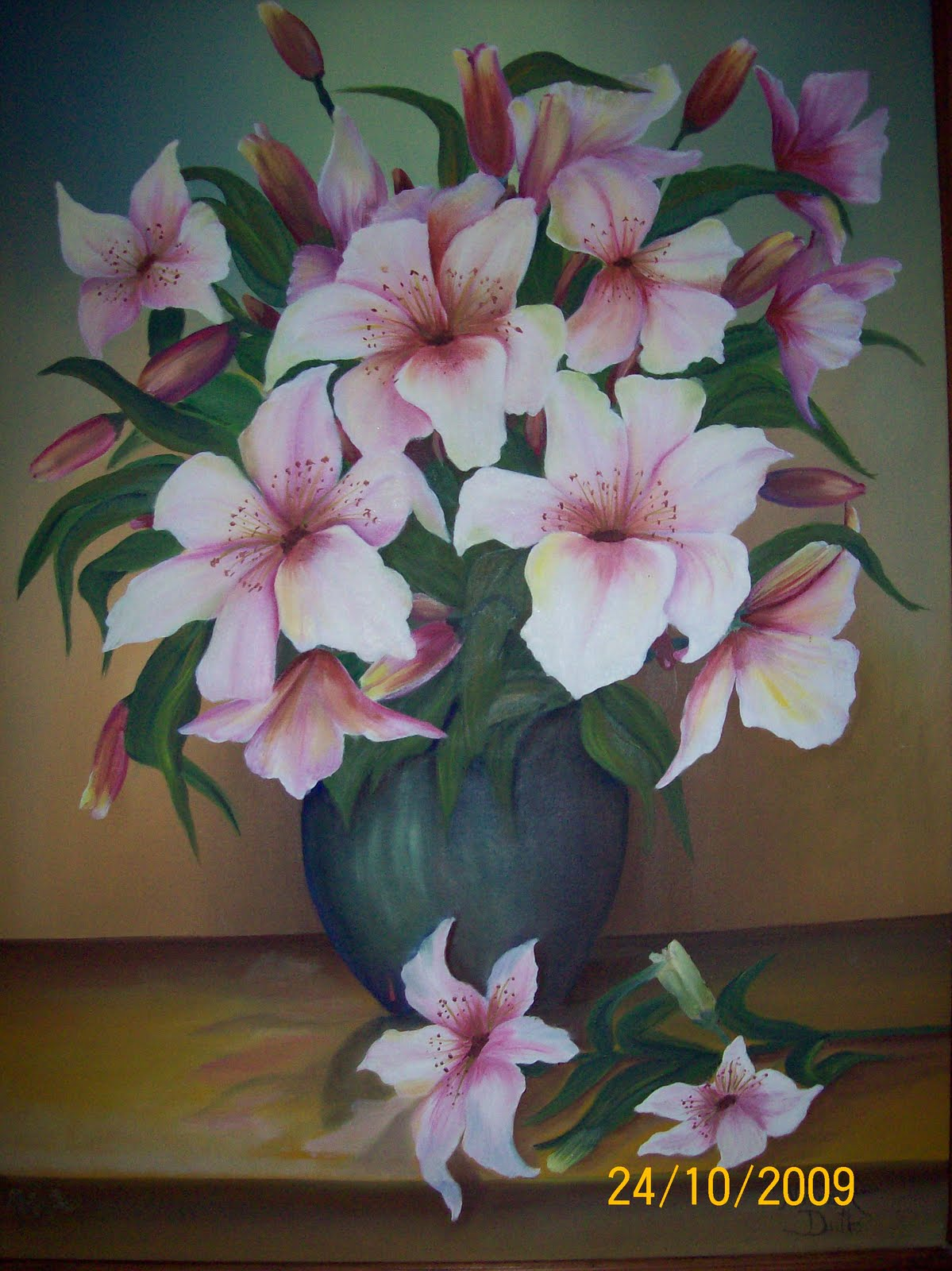 Cuadros oleo pinturas flores china pic modernos genuardis - Floreros modernos ...