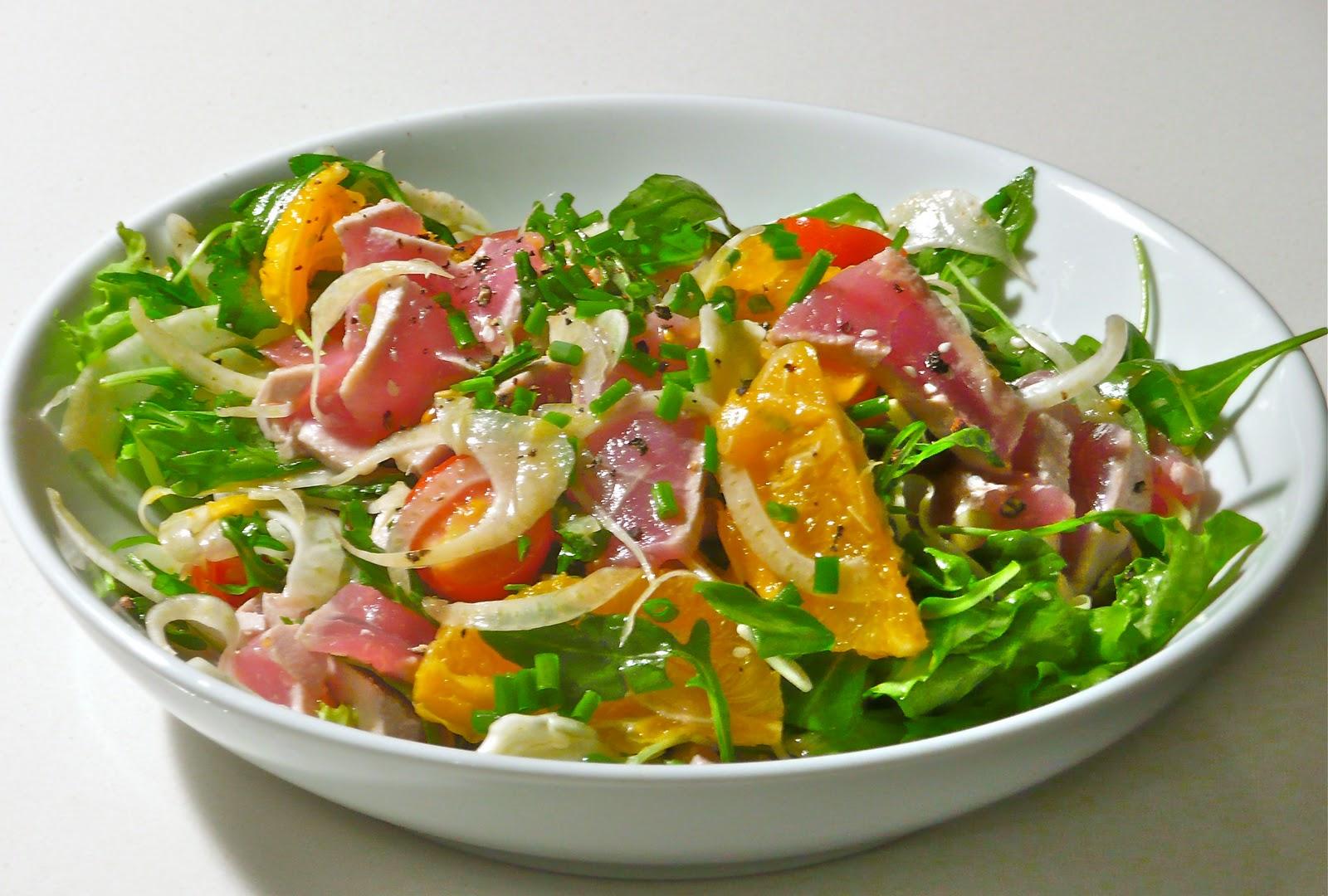 The nutriscientist tuna sashimi orange and fennel salad for Sashimi dressing