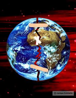 image de la Terre blessée pour le jour de la Terre