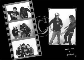 montage photo noir et blanc portrait femmes et homme qui dansent