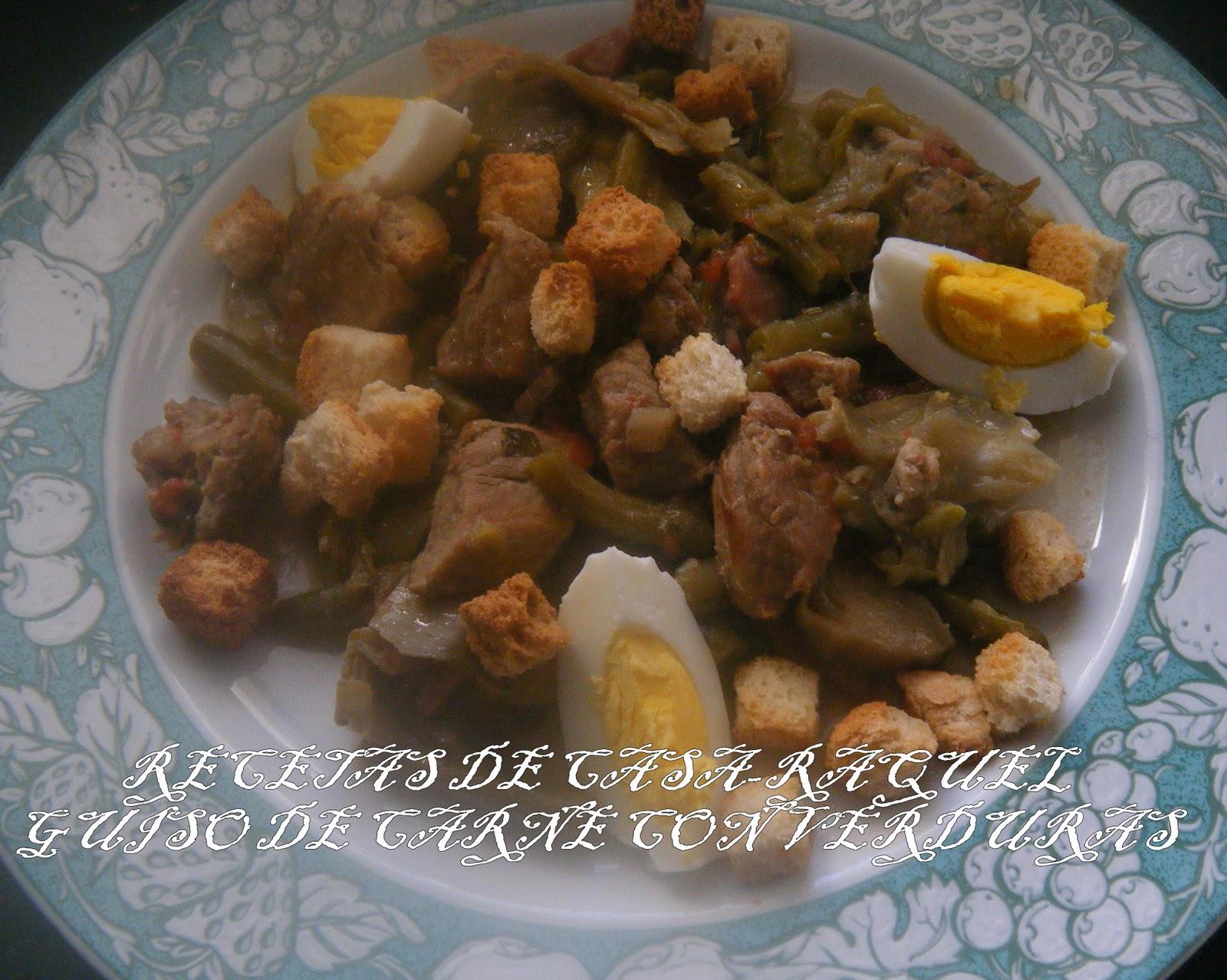Recetas de casa raquel guiso de carne con verduras - Guiso de carne de cerdo ...