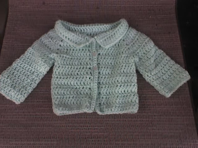 Crochet Newborn Baby Sweater Free Pattern : 1 PIECE SWEATER CROCHET PATTERN Crochet Patterns