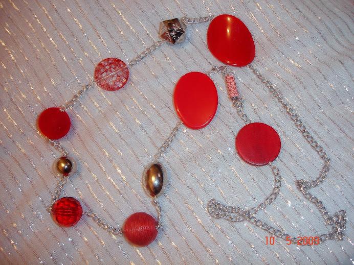 Vermelho/Prata