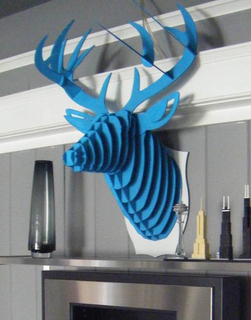 free cardboard taxidermy templates - cardboard deer head