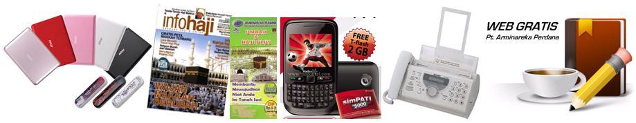 Sebuah Laptop dan Modem Flexinet Brosur Tambahan 400 lembar CD Company ...