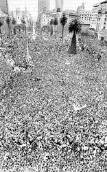 Plaza de Mayo. Festejos México 1986