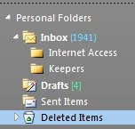 how to recover deleted email in Outlook 2010